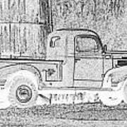Ghost Of A Truck Art Print