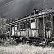 Ghost Passenger Train Coach Art Print