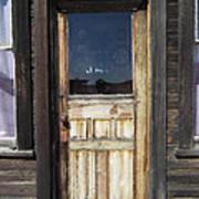 Ghost Town Handcrafted Door Art Print