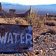 Ghost Town - No Water Art Print by Maria Arango Diener