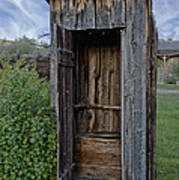 Ghost Town Outhouse - Montana Art Print