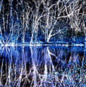 Ghostly Trees In Reflection Print by ImagesAsArt Photos And Graphics