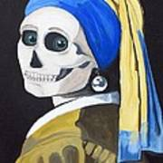 Ghoul With Pearl Earring Art Print