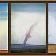 Giant Dust Devil Triptych Art Print