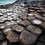 Giant's Causeway Hexagons Art Print