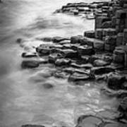 Giant's Causeway Waves  Art Print