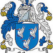 Gibson Coat Of Arms Irish Art Print