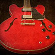 Gibson Es-335 Electric Guitar Body Art Print