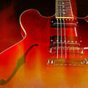 Gibson Es-335 On Fire Art Print