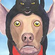 Giddyup Pink Dog Art Print