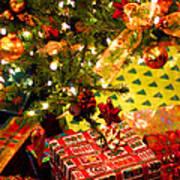 Gifts Under Christmas Tree Art Print by Elena Elisseeva