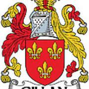 Gillan Coat Of Arms Irish Art Print