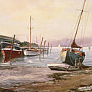 Gillingham Pier On The Medway Art Print