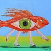 Ginger Fish Art Print