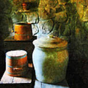 Ginger Jar And Buckets Art Print