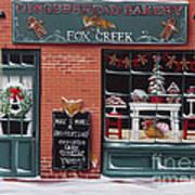 Gingerbread Bakery At Fox Creek Art Print