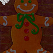 Gingerbread Greetings Art Print