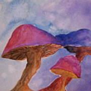 Gini's Shrooms Art Print