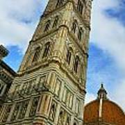 Giotto Campanile Tower In Florence Italy Art Print