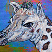 Giraffe - Baby Announcement Art Print by Ella Kaye Dickey