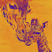Giraffe Love Art Print by Jane Schnetlage