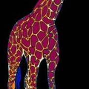 Giraffe Pop Art Art Print