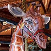 Giraffe Ride Art Print