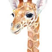 Giraffe Watercolor Art Print