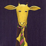 Giraffe Wearing Tie Art Print by Christy Beckwith