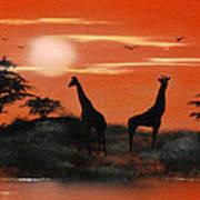 Serengeti Sunset Sold Art Print