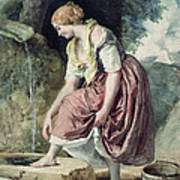 Girl At A Conduit Art Print