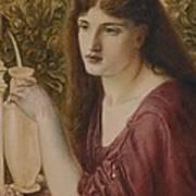 Girl At A Fountain Art Print