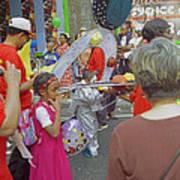 Girl At Carnival Social Occasion Celebrations Art Print