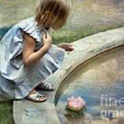 Girl At The Pond Art Print
