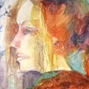 Girl At Window Art Print