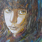 Girl By C215 Art Print