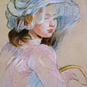 Girl Carrying A Basket Art Print