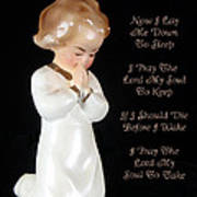 Girl Childs Bedtime Prayer Art Print