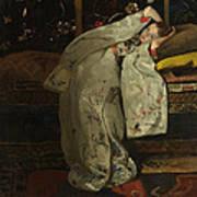 Girl In A Kimono Art Print