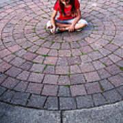 Girl In Circle Art Print