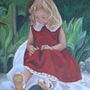 Girl In The Garden Art Print