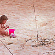 Girl In The Sand Art Print