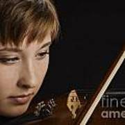 Girl Musician And Violin Or Viola Photograph Color 3361.02 Art Print