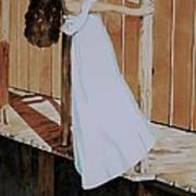 Girl On Dock Art Print