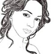 Girl Sketch Art Print