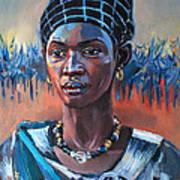 Girl South Sudan Art Print