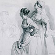 Girl Studies  1839 Art Print