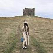 Girl Walks To A Chapel Art Print