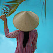 Girl With Conical Hat, Nha Trang Art Print