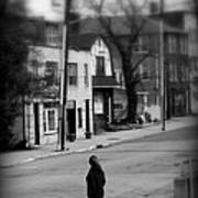 Girl With Dog - Somewhere In America Art Print